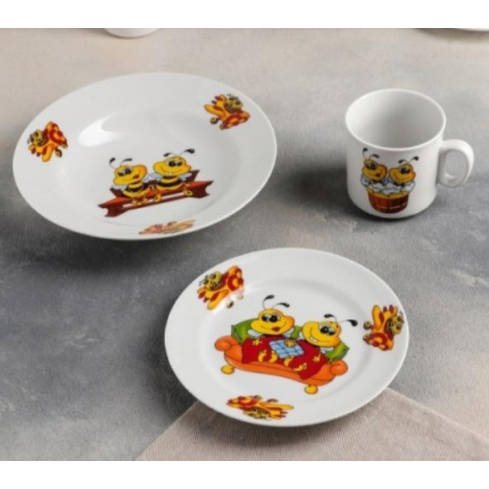 """Дитячий набір посуду """"Бджілки"""""""