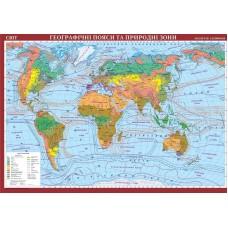 Карта. Світ. Географічні пояси та природні зони
