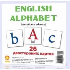 Картки міні Англійська абетка (110х110 мм)