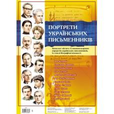 """Комплект плакатів """"Українські письменники"""""""
