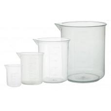 Набір склянок хімічних, з градуюванням без ручки