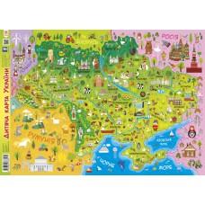 Плакат дитяча карта України А1