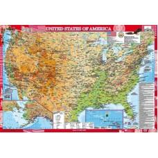 United States of America. Фізична карта
