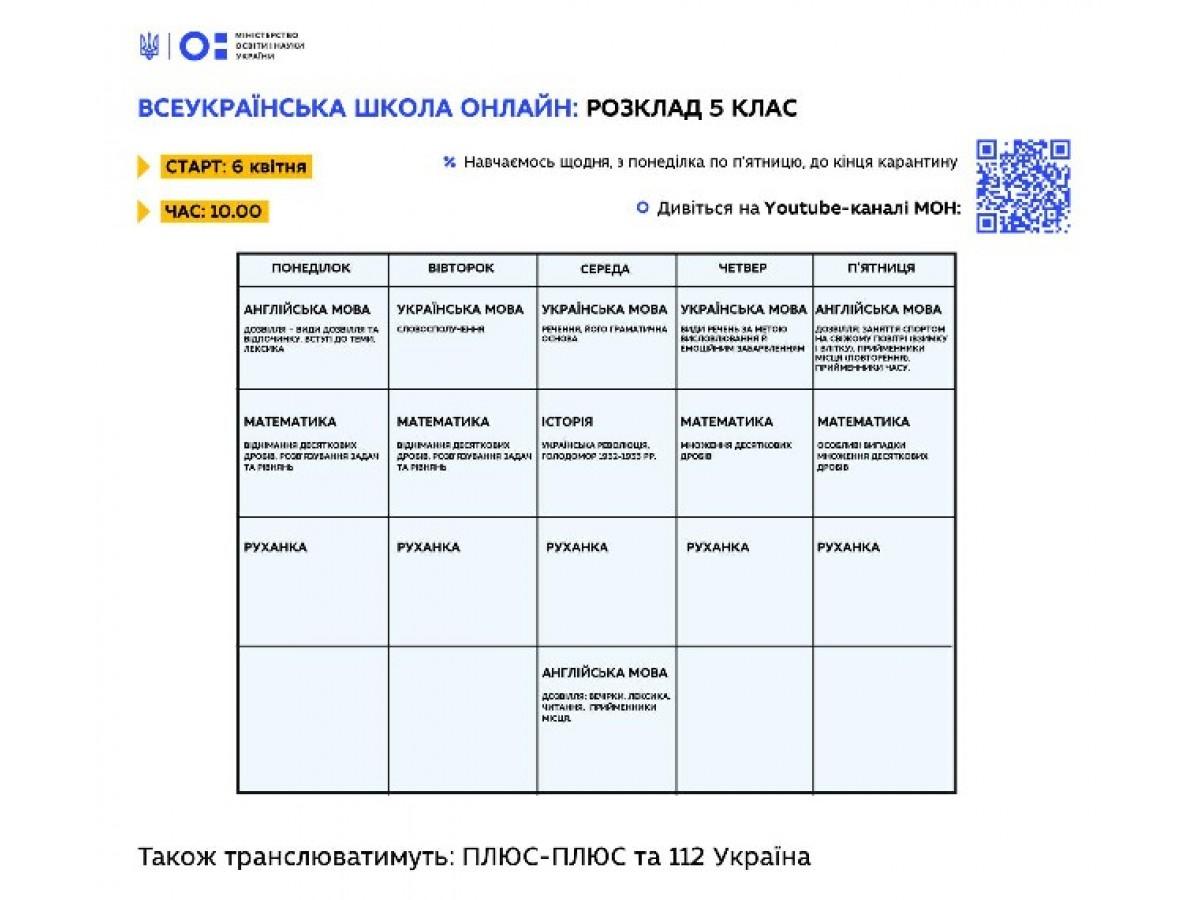 В Україні стартував проект «Всеукраїнська школа онлайн»